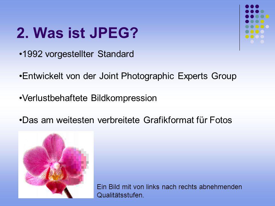 2. Was ist JPEG 1992 vorgestellter Standard