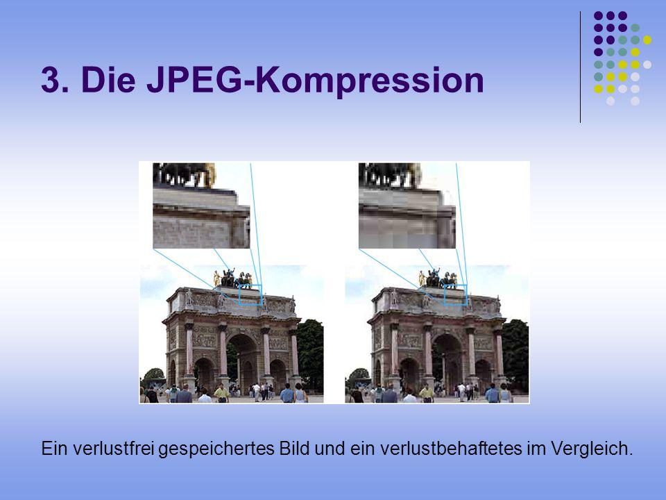 3. Die JPEG-Kompression Ein verlustfrei gespeichertes Bild und ein verlustbehaftetes im Vergleich.
