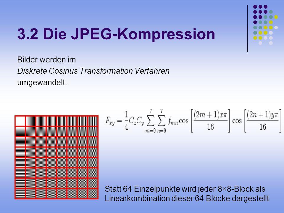 3.2 Die JPEG-Kompression Bilder werden im