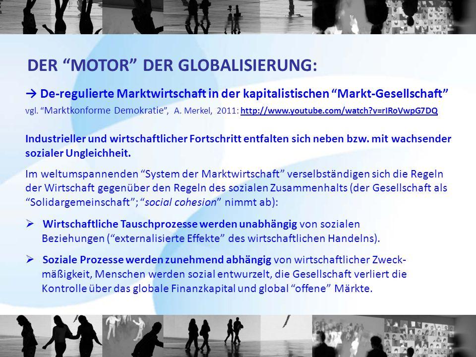 DER MOTOR DER GLOBALISIERUNG: