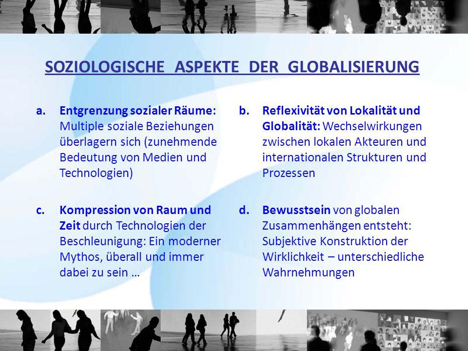 SOZIOLOGISCHE ASPEKTE DER GLOBALISIERUNG