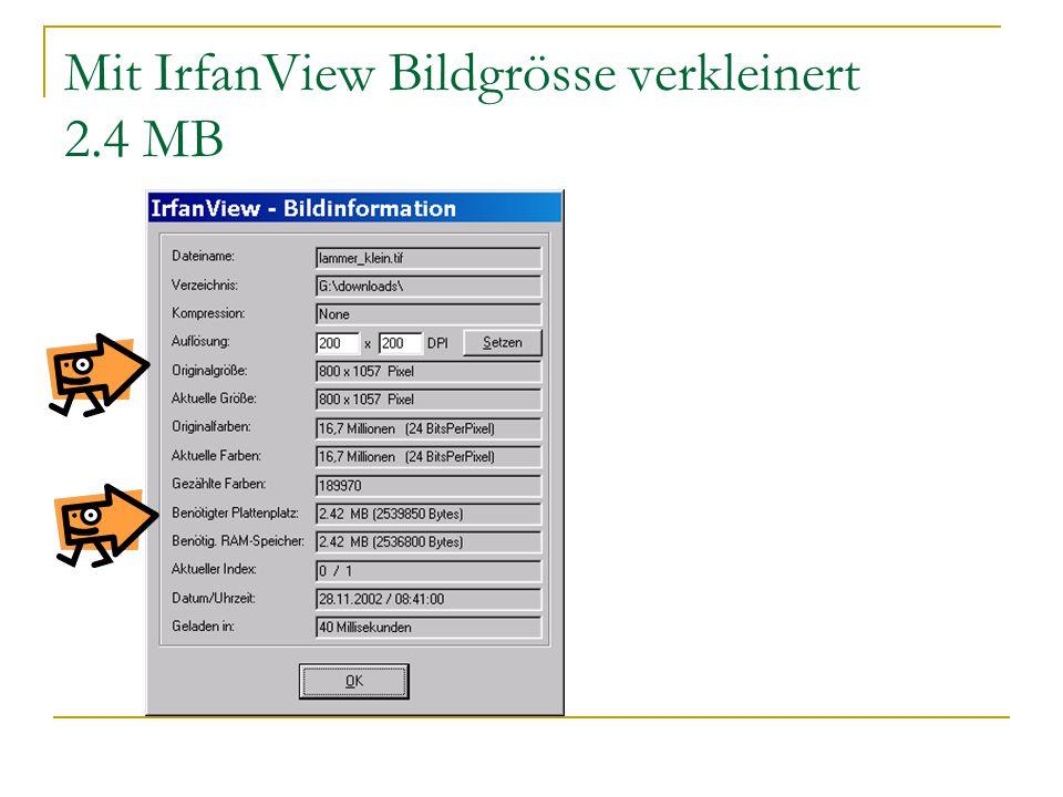 Mit IrfanView Bildgrösse verkleinert 2.4 MB