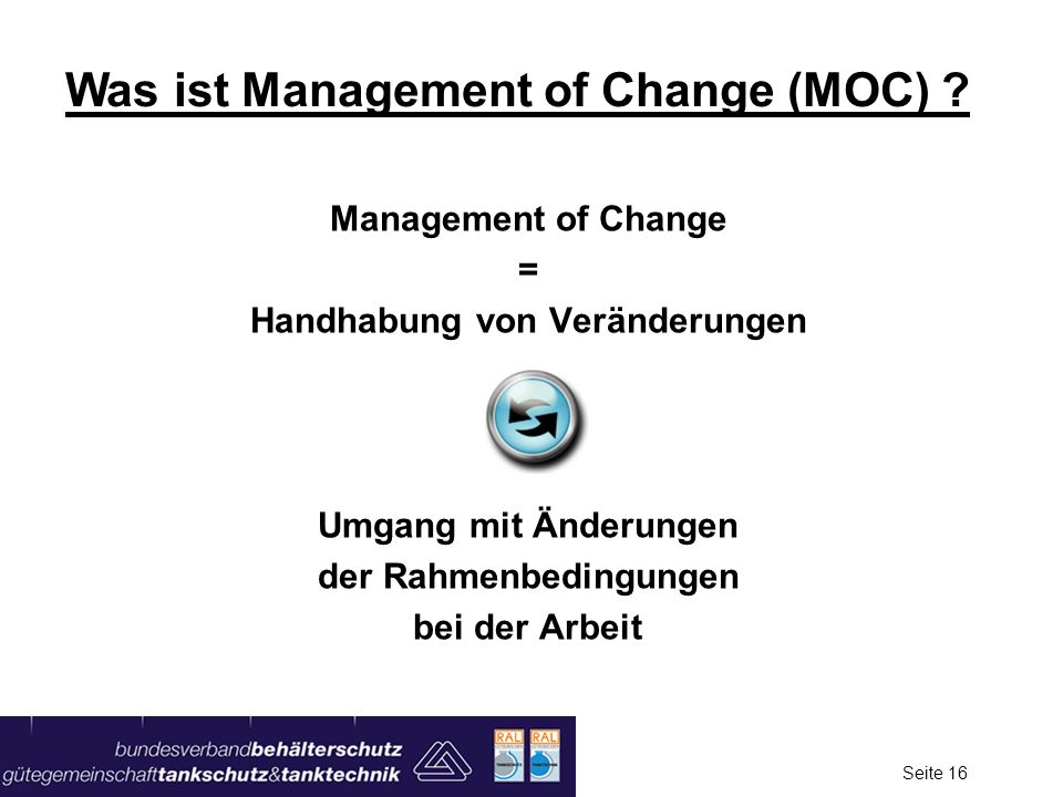 Was ist Management of Change (MOC)