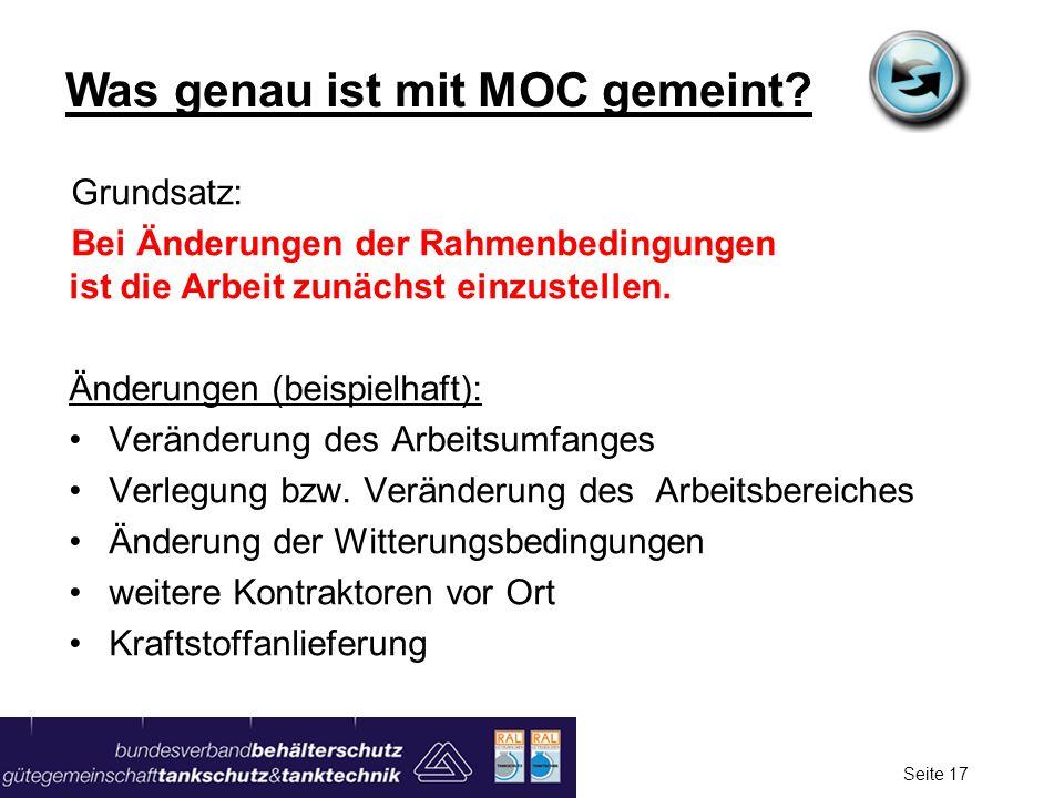 Was genau ist mit MOC gemeint