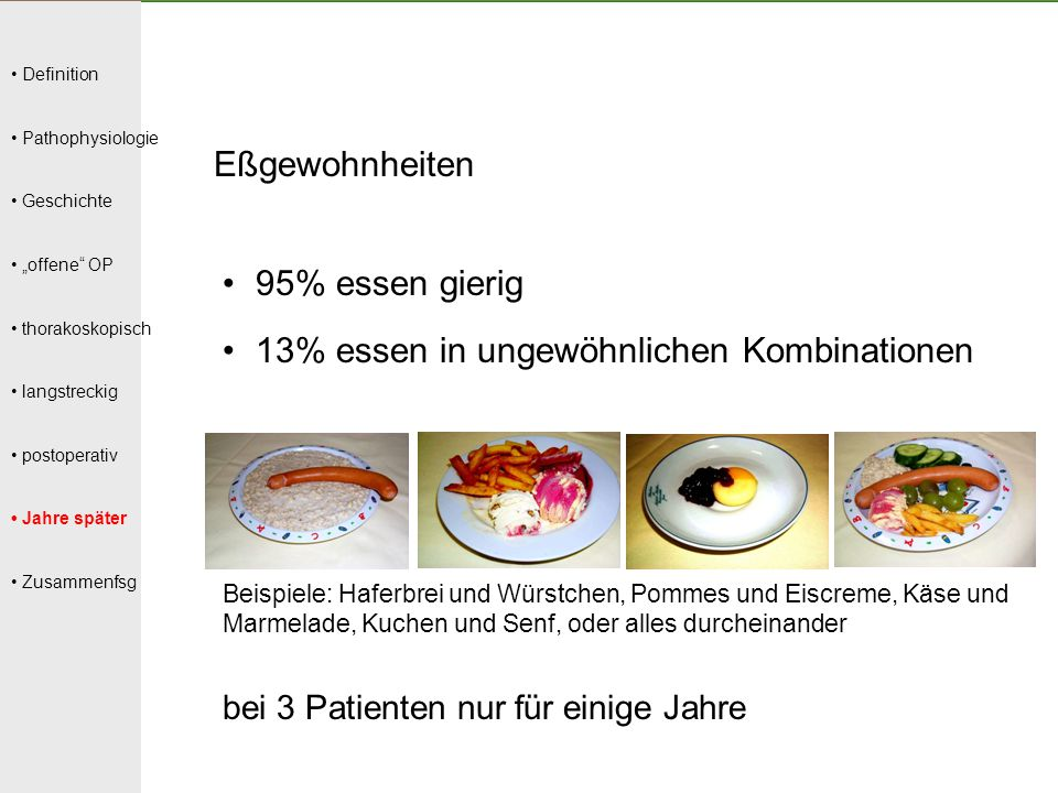 13% essen in ungewöhnlichen Kombinationen