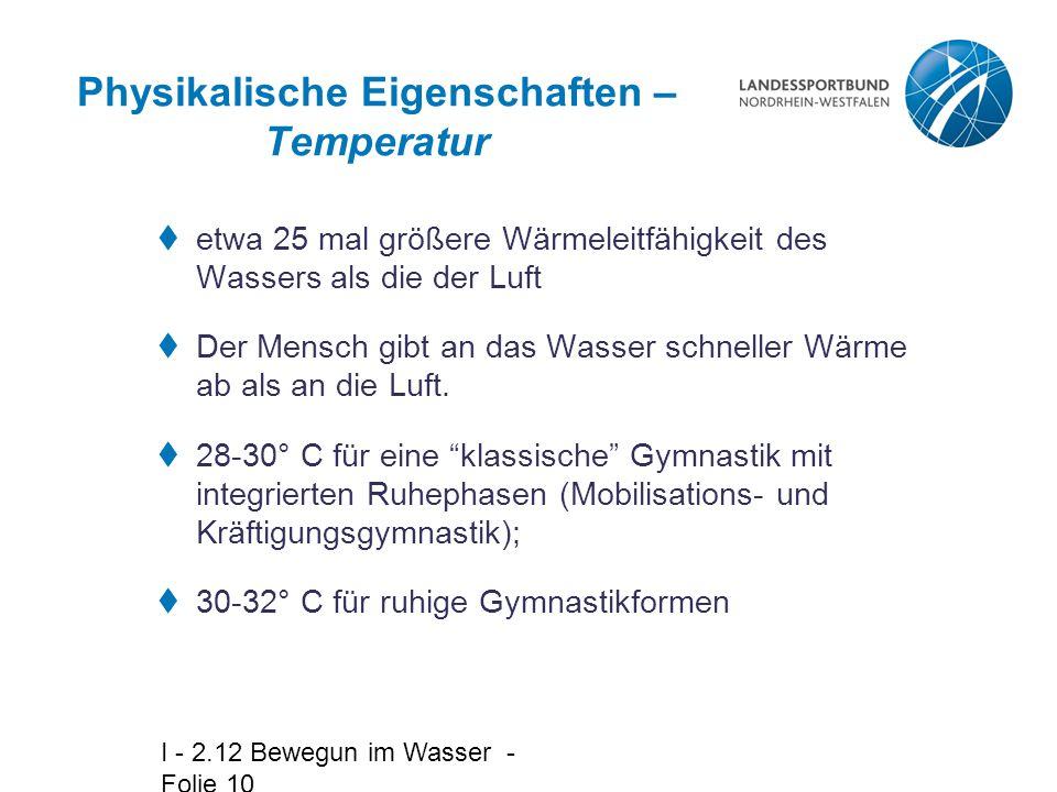 Physikalische Eigenschaften – Temperatur