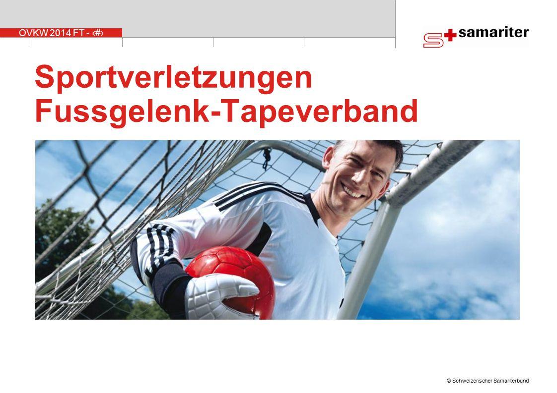Sportverletzungen Fussgelenk-Tapeverband