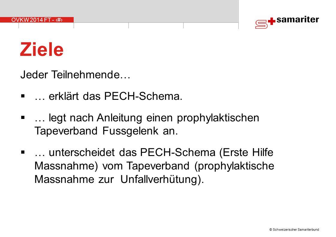 Ziele Jeder Teilnehmende… … erklärt das PECH-Schema.