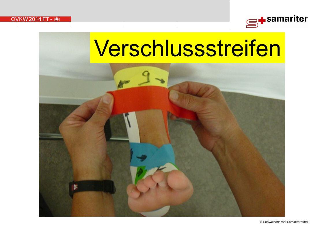 Verschlussstreifen Nr. 9, der Verschlussstreifen bildet den Anfang vom Abschluss .