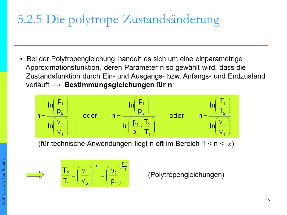 5.2.5 Die polytrope Zustandsänderung