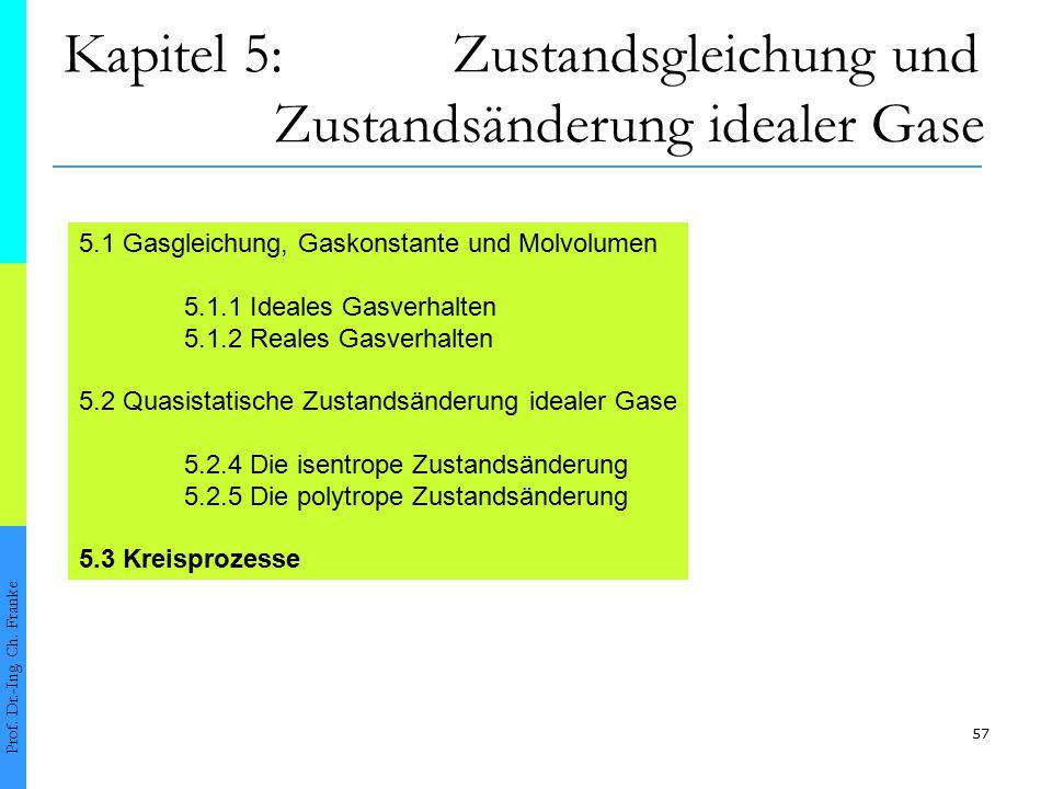 Kapitel 5: Zustandsgleichung und Zustandsänderung idealer Gase