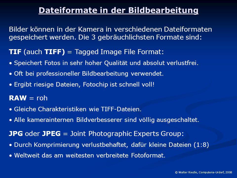 Dateiformate in der Bildbearbeitung