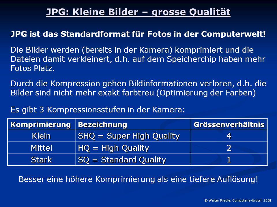 JPG: Kleine Bilder – grosse Qualität