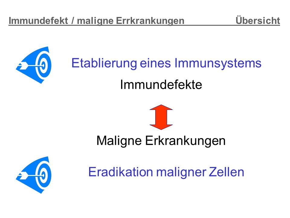 Immundefekt / maligne Errkrankungen Übersicht
