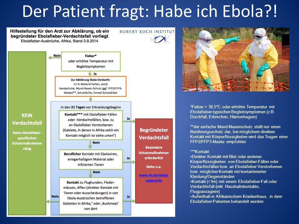 Der Patient fragt: Habe ich Ebola !