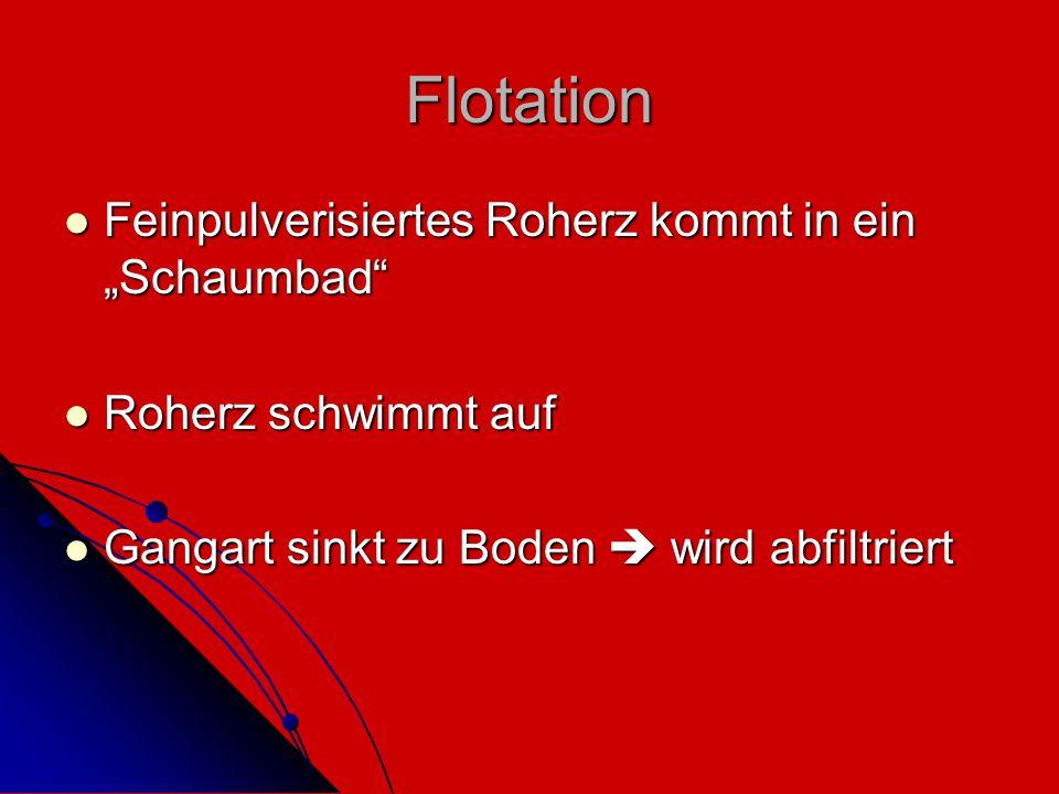 """Flotation Feinpulverisiertes Roherz kommt in ein """"Schaumbad"""