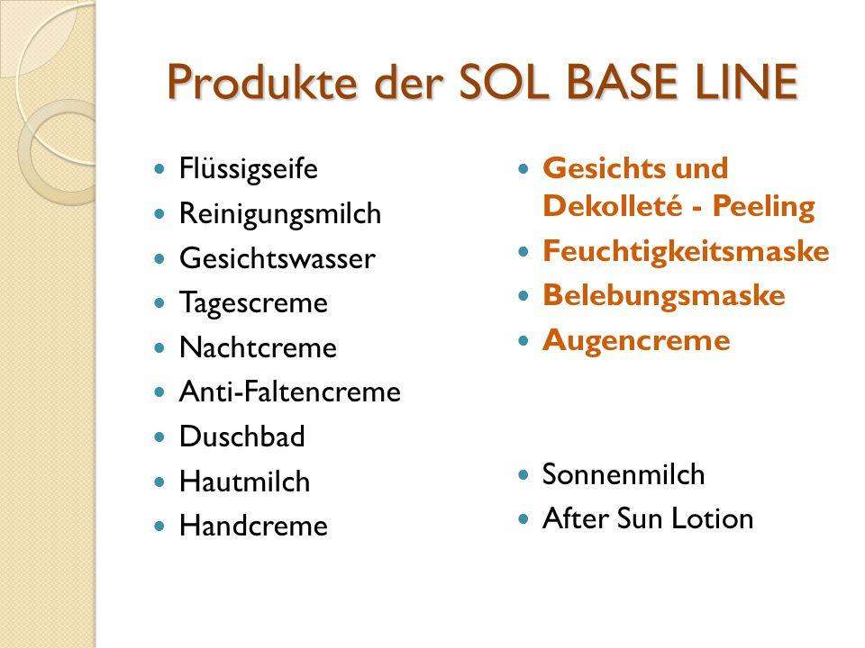 Produkte der SOL BASE LINE