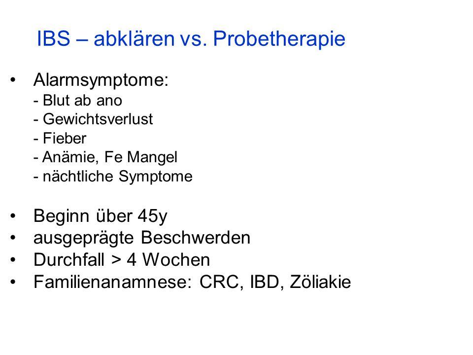 IBS – abklären vs. Probetherapie