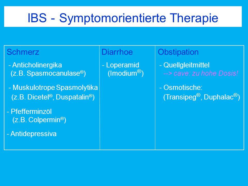 IBS - Symptomorientierte Therapie