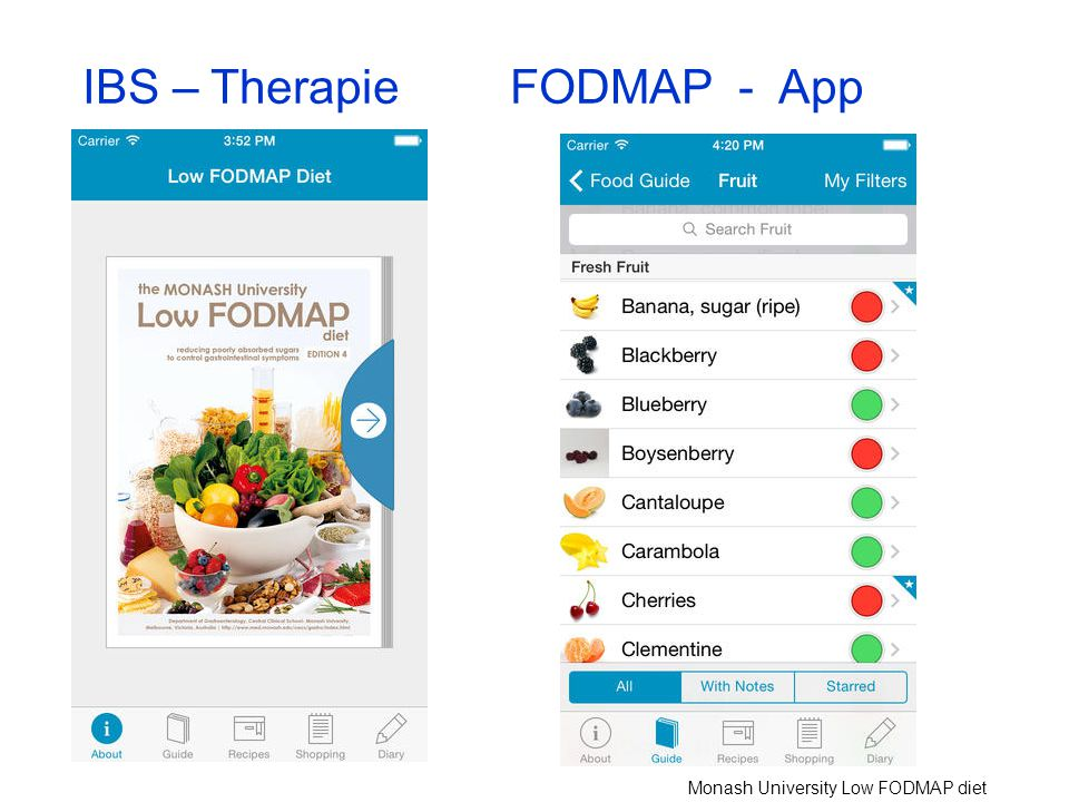 IBS – Therapie FODMAP - App