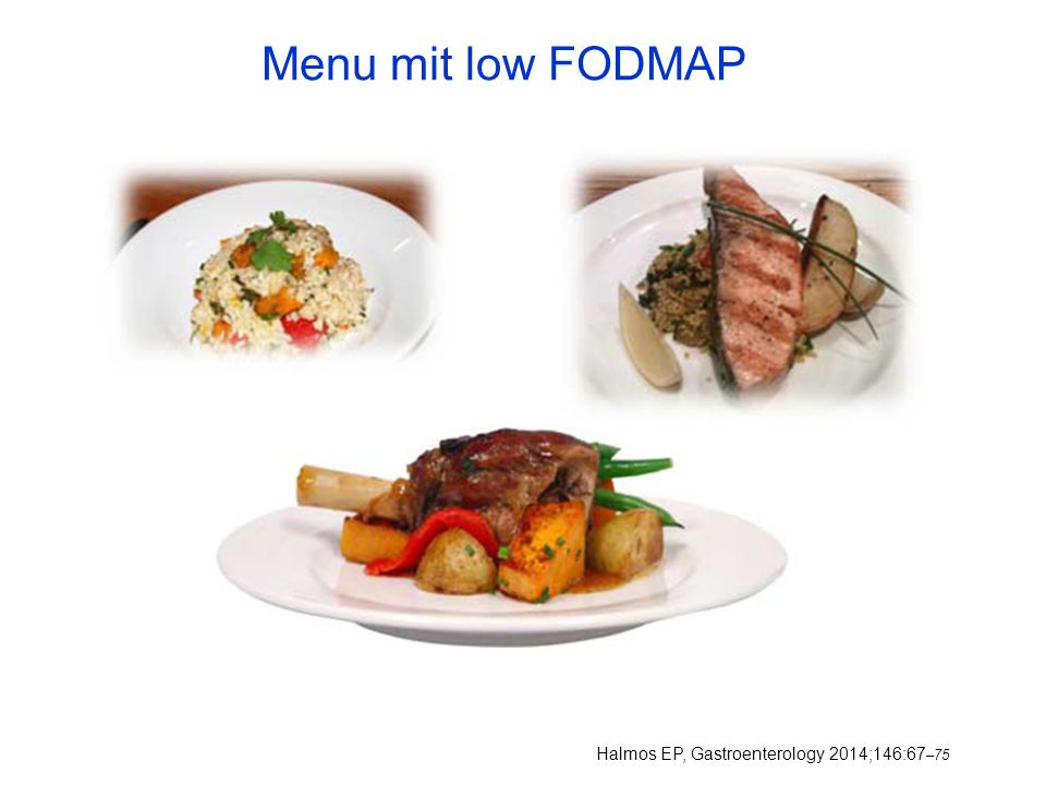 Menu mit low FODMAP Halmos EP, Gastroenterology 2014;146:67–75