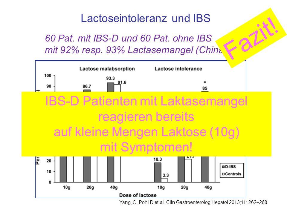 Fazit! IBS-D Patienten mit Laktasemangel reagieren bereits