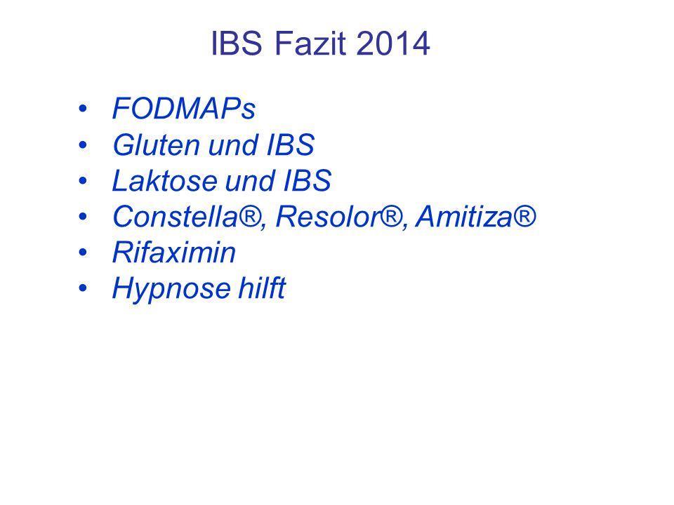 IBS Fazit 2014 FODMAPs Gluten und IBS Laktose und IBS
