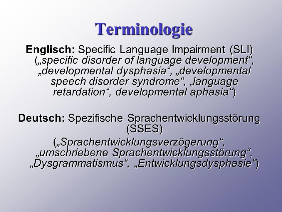 Deutsch: Spezifische Sprachentwicklungsstörung (SSES)