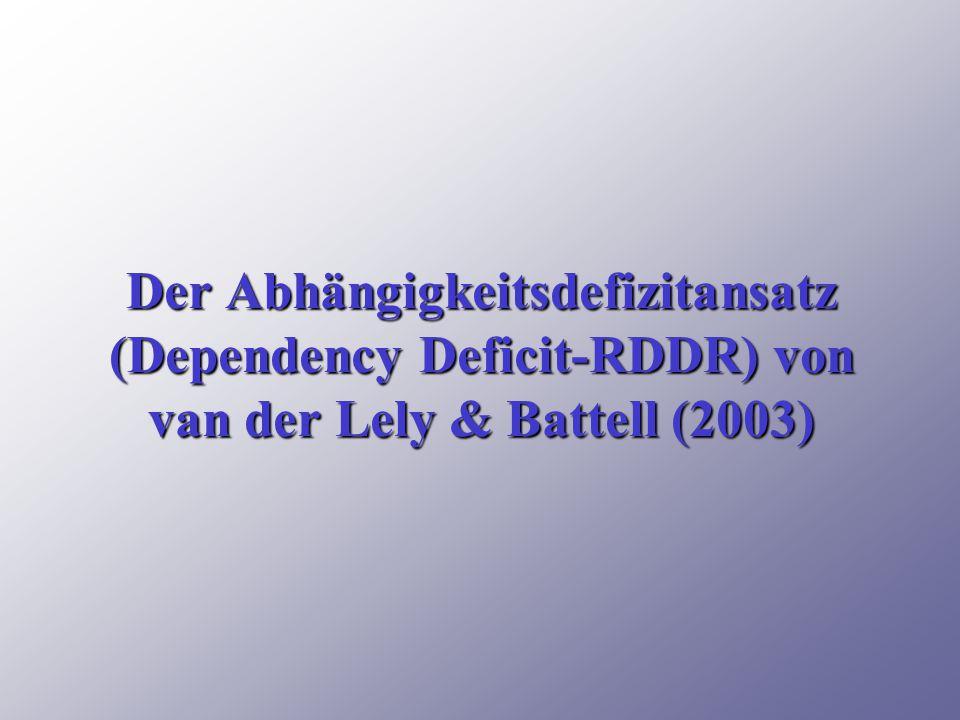 Der Abhängigkeitsdefizitansatz (Dependency Deficit-RDDR) von van der Lely & Battell (2003)