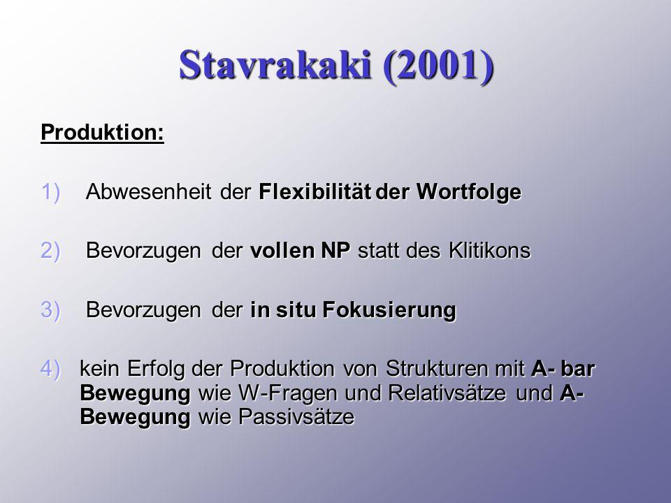 Stavrakaki (2001) Produktion: