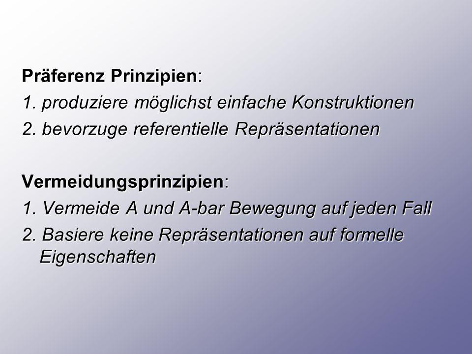 Präferenz Prinzipien:
