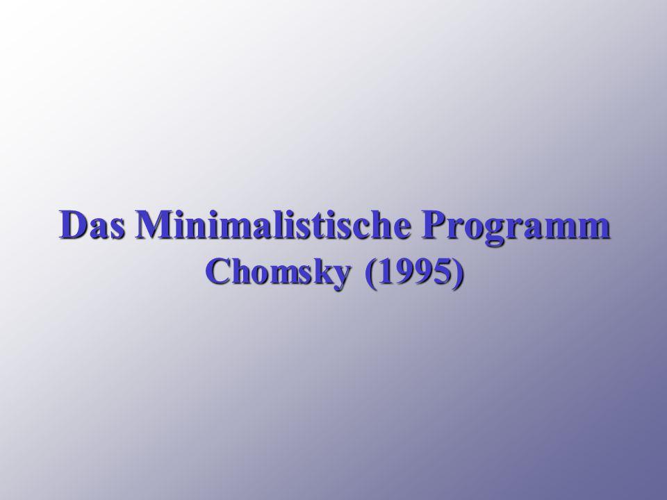 Das Minimalistische Programm Chomsky (1995)