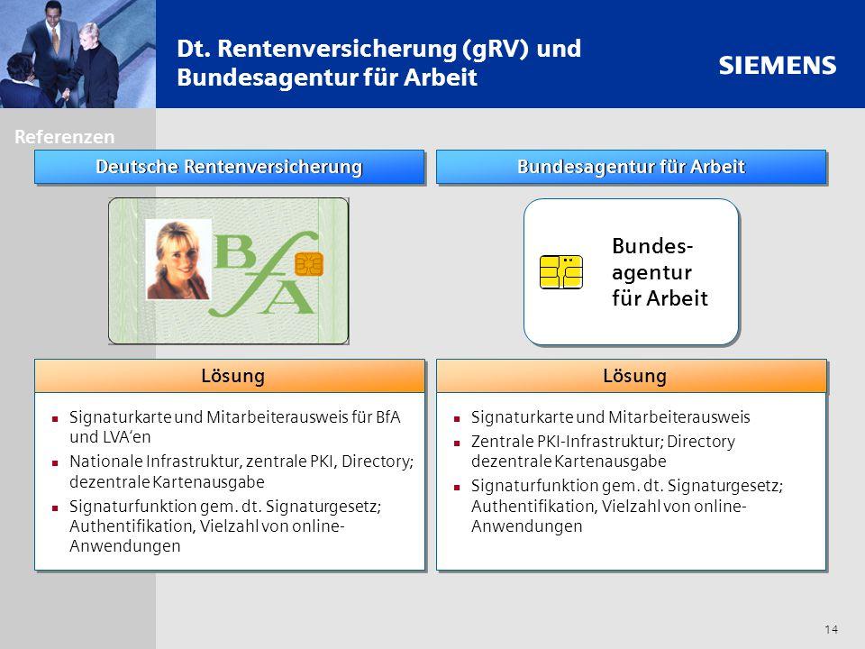 Dt. Rentenversicherung (gRV) und Bundesagentur für Arbeit