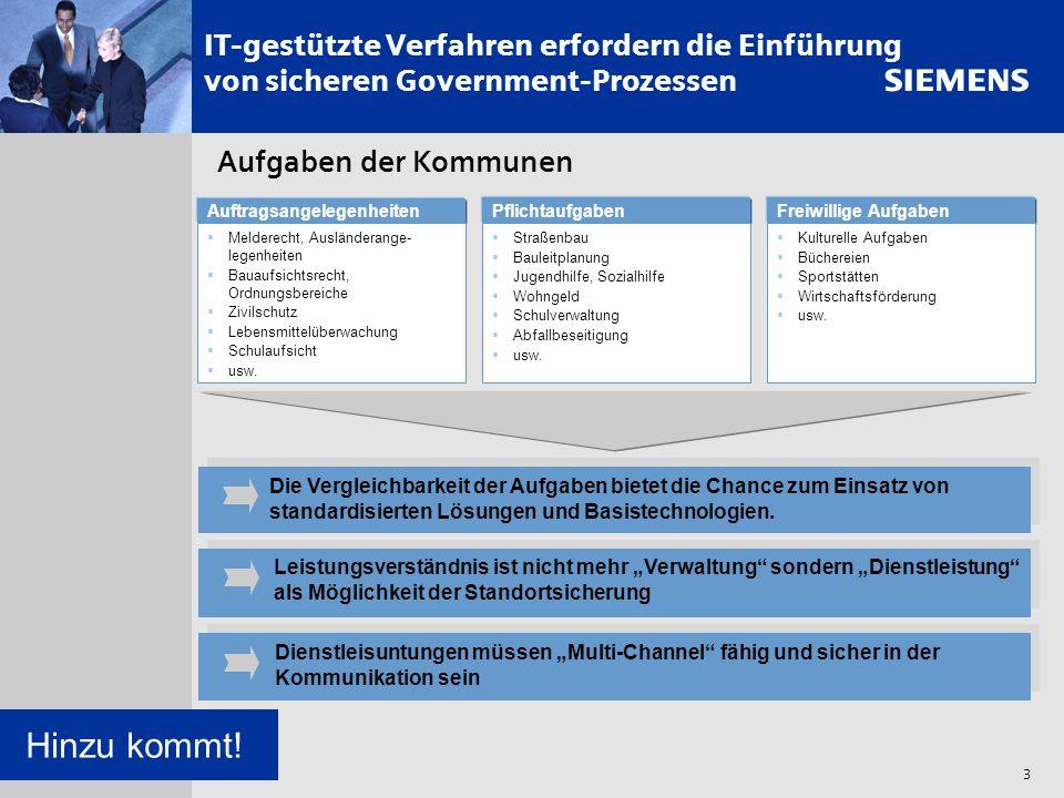 IT-gestützte Verfahren erfordern die Einführung von sicheren Government-Prozessen