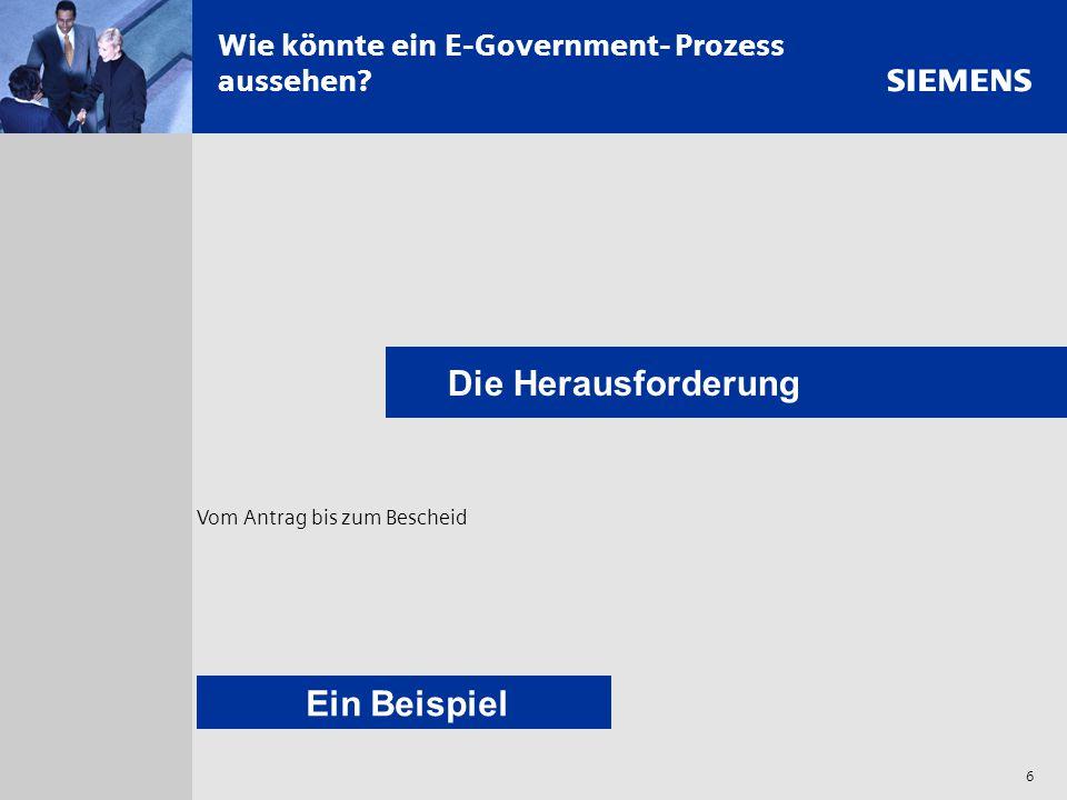 Wie könnte ein E-Government- Prozess aussehen