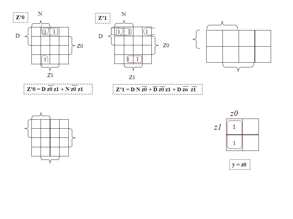 N N. Z'0. Z'1. 1. 1. 1. 1. 1. D. D. Z0. Z0. 1. 1. 1. Z1. Z1. Z'0 = D z0 z1 + N z0 z1.