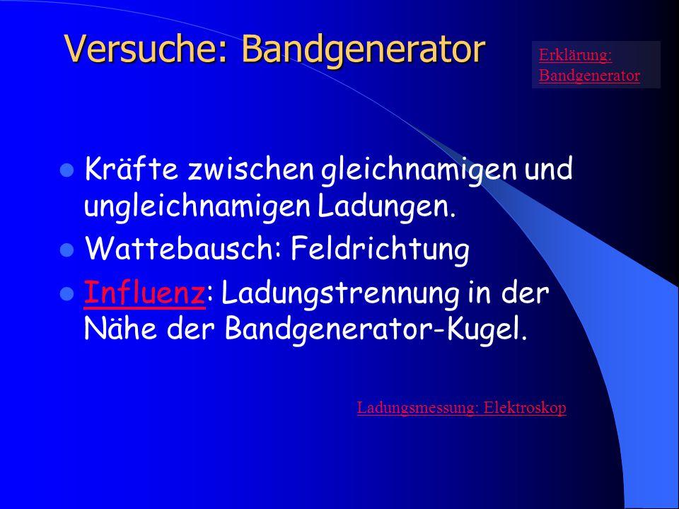Versuche: Bandgenerator