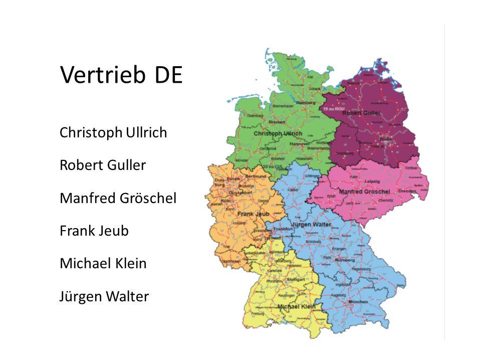Vertrieb DE Christoph Ullrich Robert Guller Manfred Gröschel Frank Jeub Michael Klein Jürgen Walter