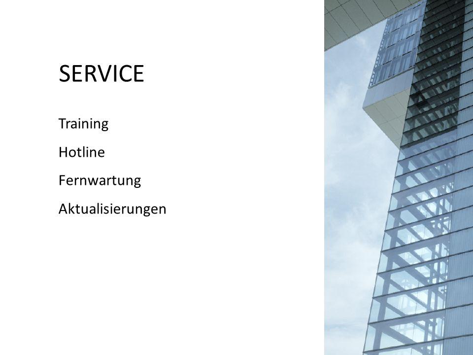 SERVICE Training Hotline Fernwartung Aktualisierungen
