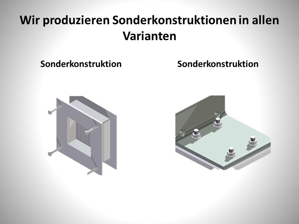 Wir produzieren Sonderkonstruktionen in allen Varianten