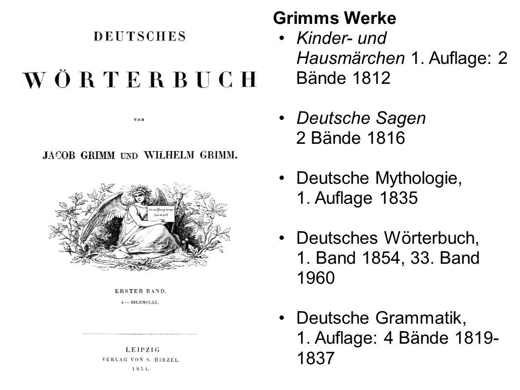 Kinder- und Hausmärchen 1. Auflage: 2 Bände 1812