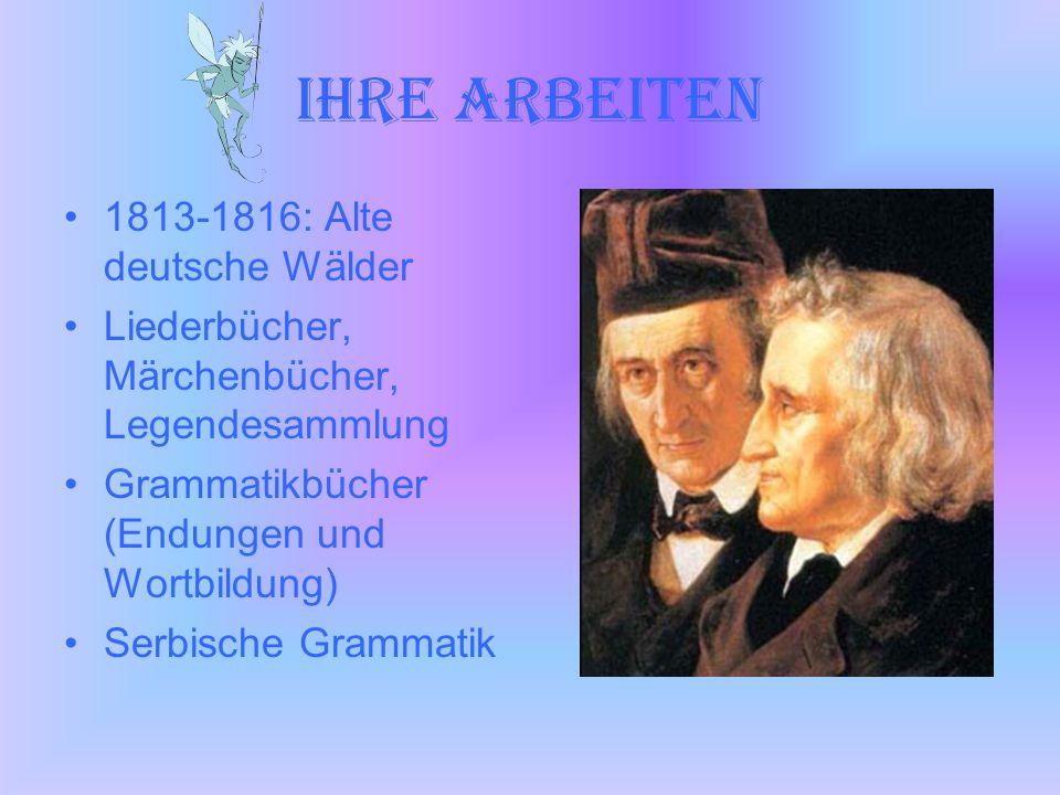 Ihre Arbeiten 1813-1816: Alte deutsche Wälder