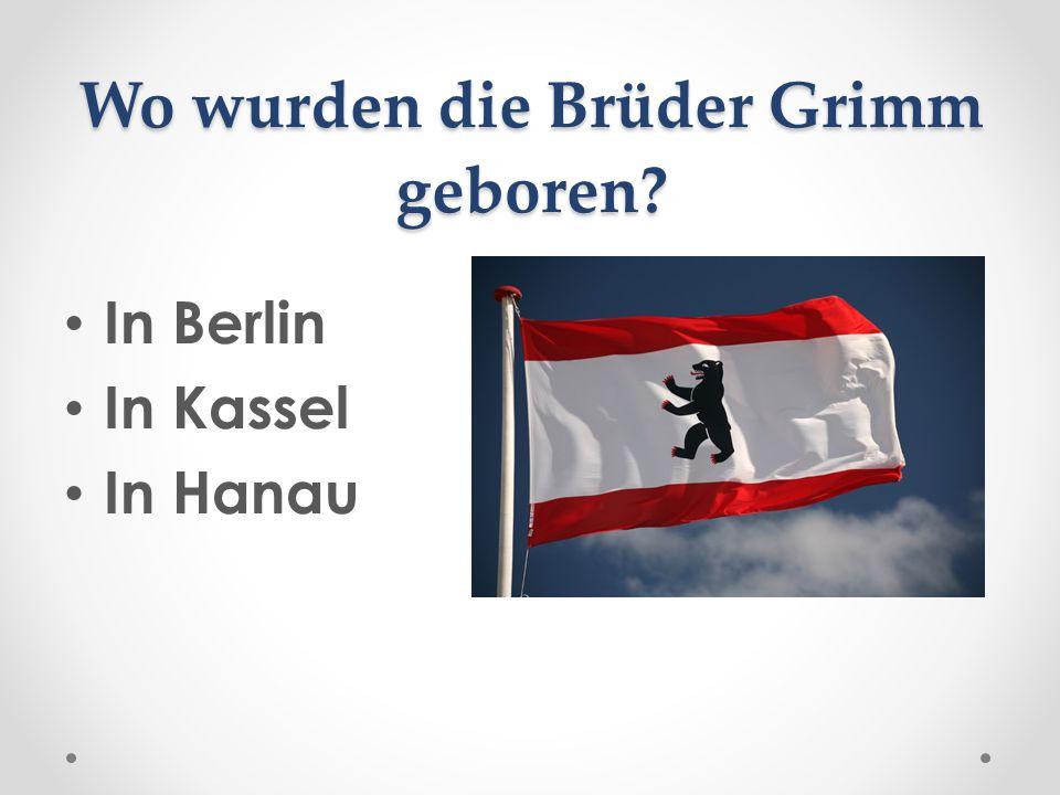 Wo wurden die Brüder Grimm geboren