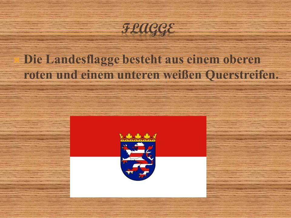 FLAGGE Die Landesflagge besteht aus einem oberen roten und einem unteren weißen Querstreifen.