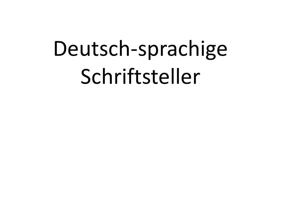 Deutsch-sprachige Schriftsteller