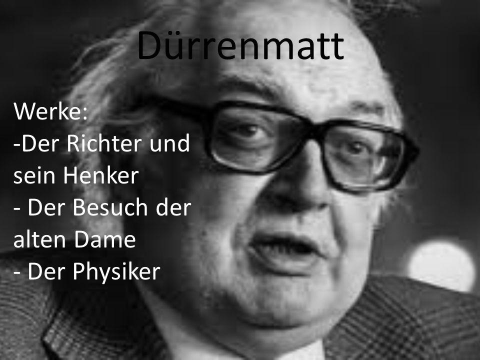 Dürrenmatt Werke: Der Richter und sein Henker