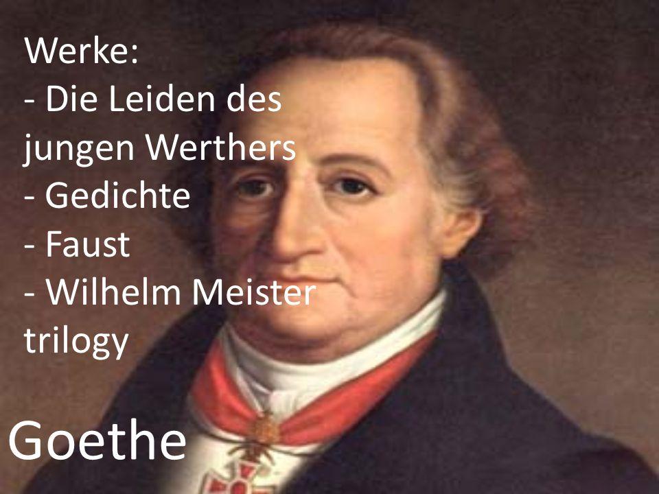 Goethe Werke: Die Leiden des jungen Werthers Gedichte Faust