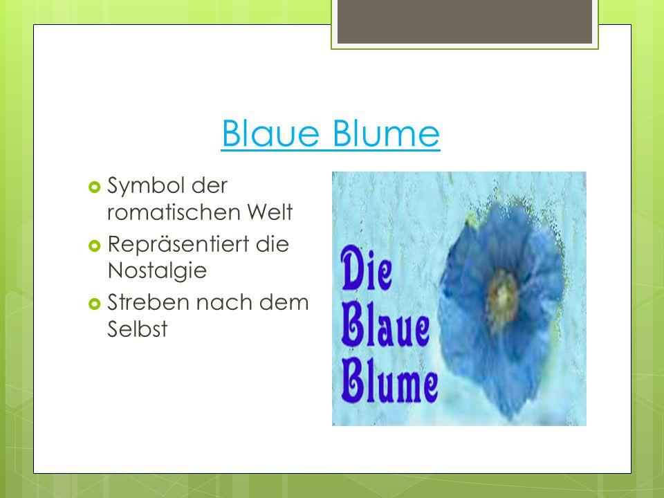 Blaue Blume Symbol der romatischen Welt Repräsentiert die Nostalgie