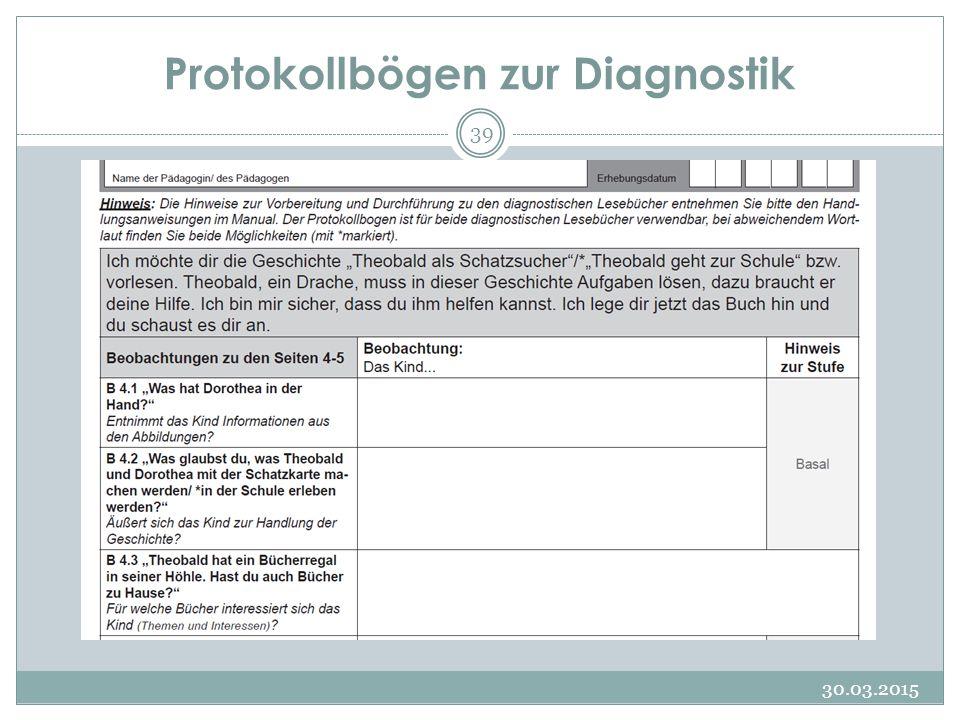 Protokollbögen zur Diagnostik