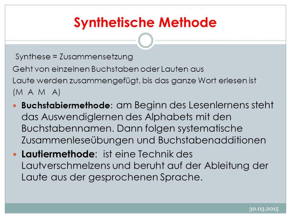 Synthetische Methode Synthese = Zusammensetzung